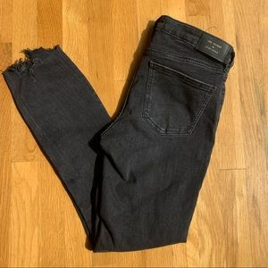 NWT Zara distressed black skinny jeans